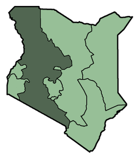 Map showing the location of Maasai Mara National Reserve