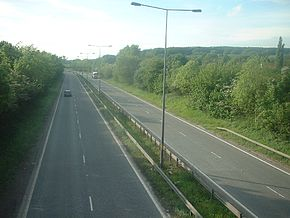 The A63(T) looking west from near Brough