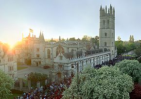 Magdalen College on May Morning, 2007.