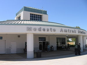 Modesto CA Amtrak Train Station.JPG