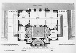 Pavillon de Louveciennes: ground floor plan shows the rich variety of shapes