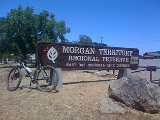 Here is the Morgan Territory Entrance