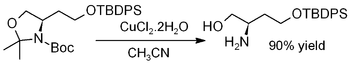 Deprotection of an acetonide using CuCl2·2H2O.