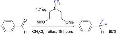 bis(2-methoxyethyl)aminosulfur trifluoride reaction