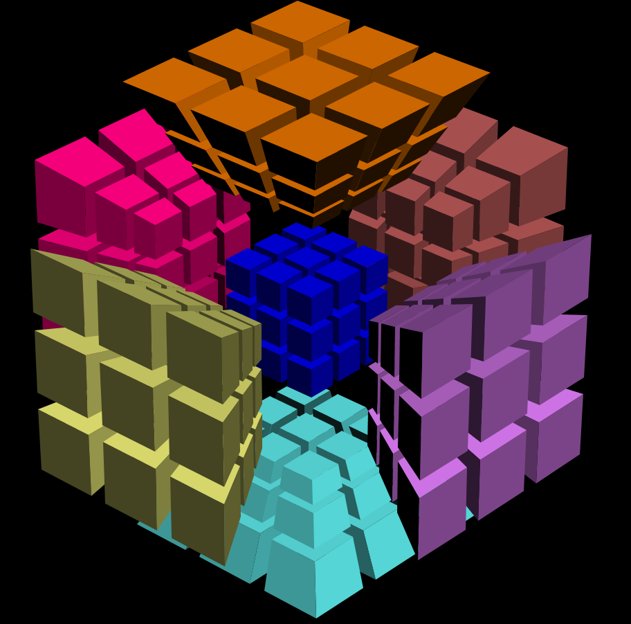 how to draw a 4 dimensional cube