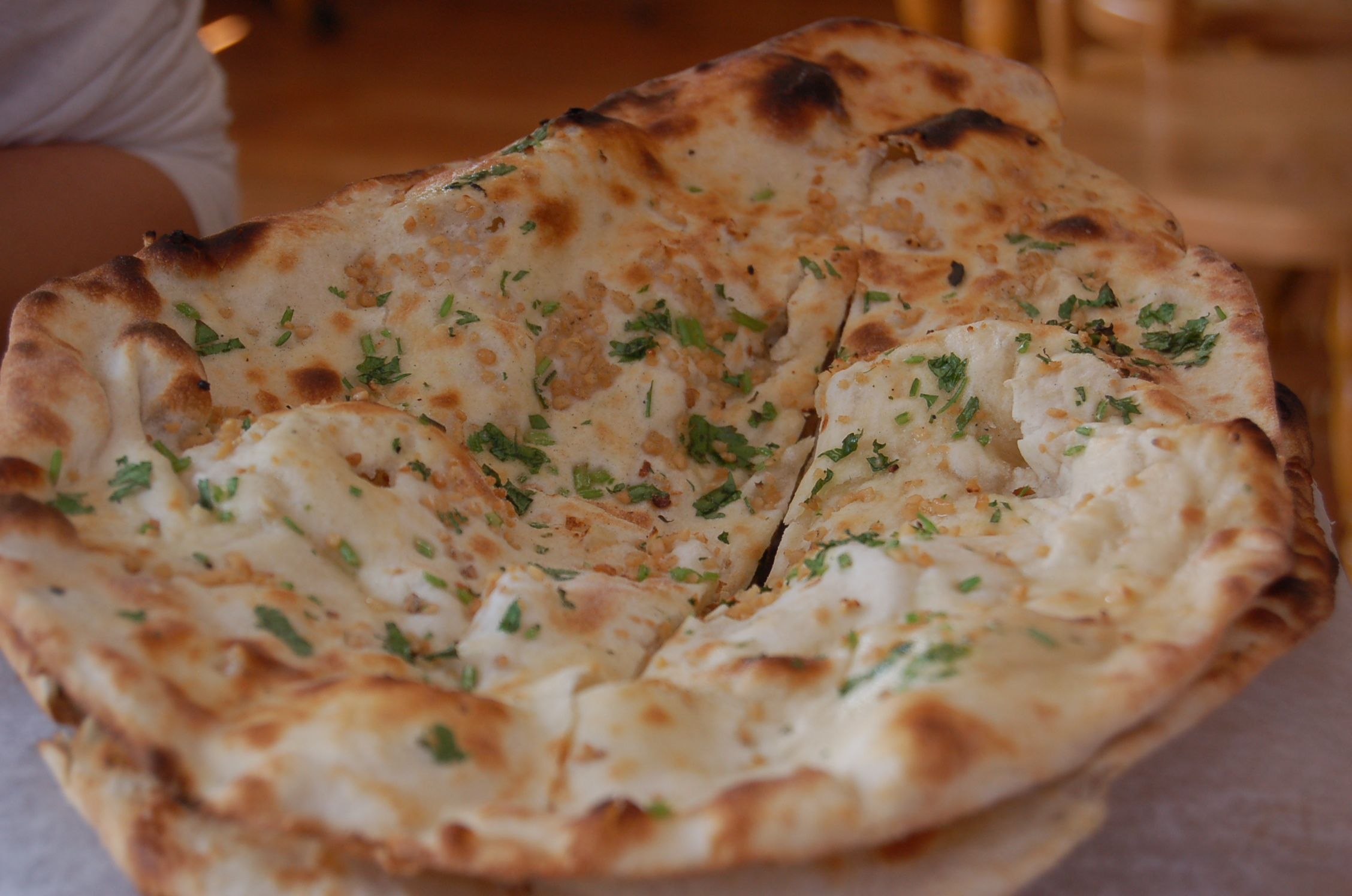 Naan with seasoning