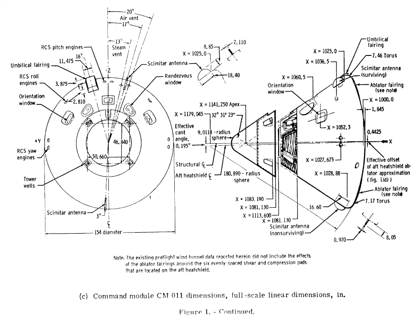orion spacecraft drawings and measurements