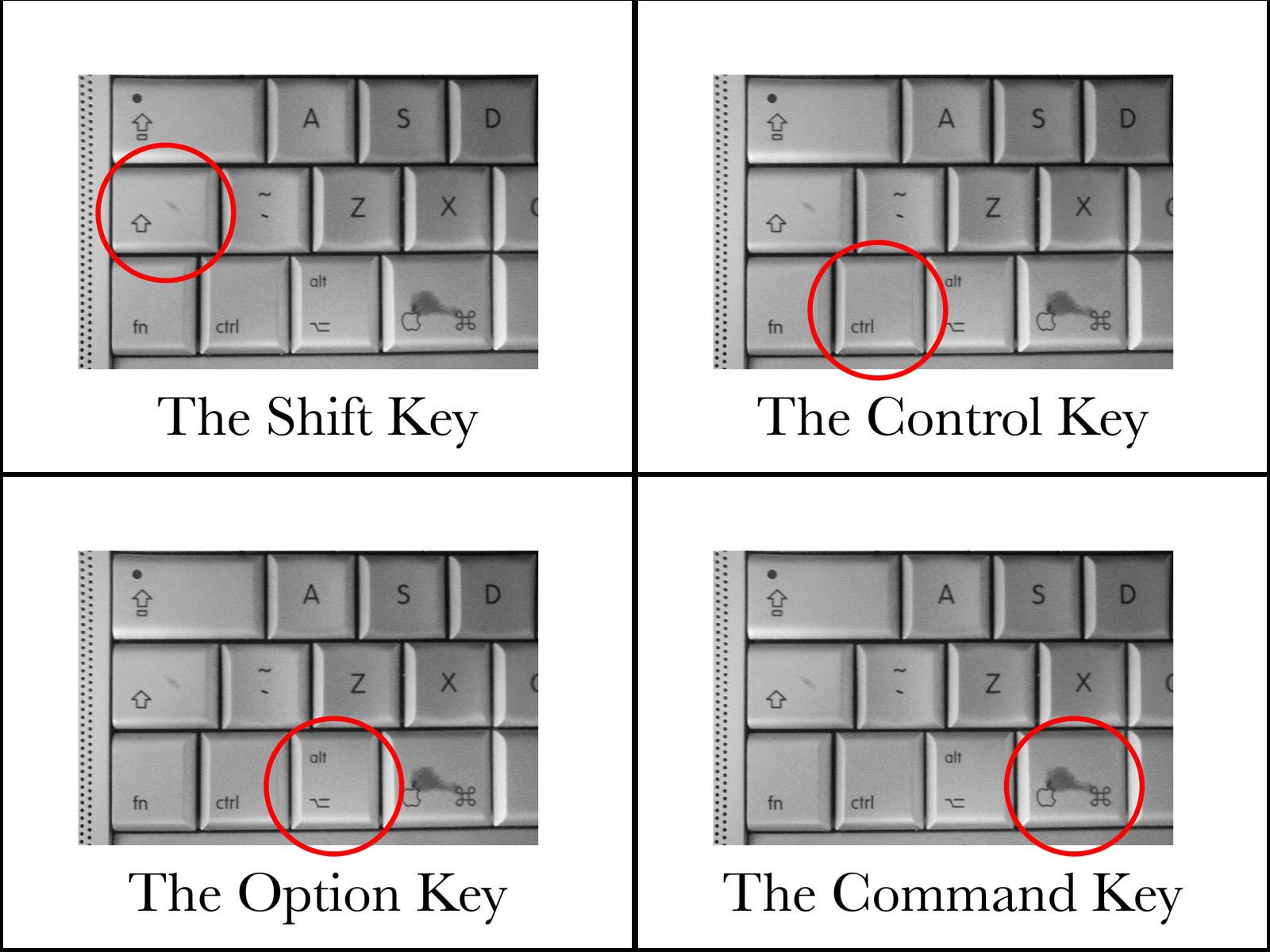 Клавиша Опцион