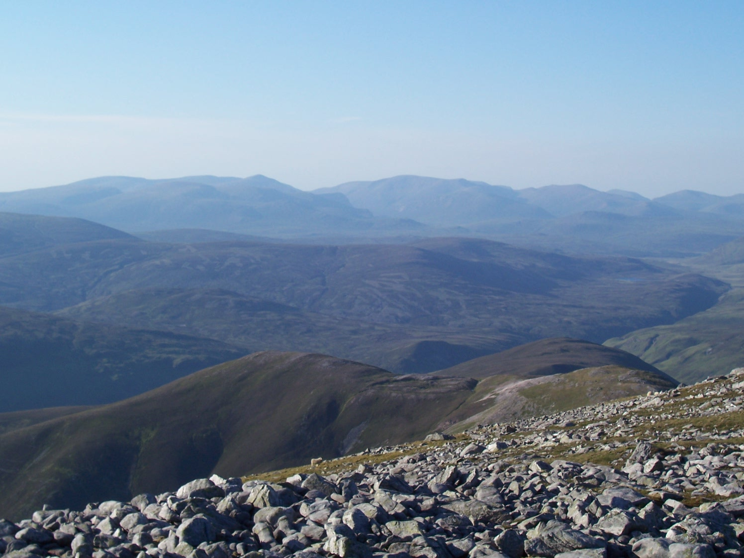 the cairngorms from beinn a ghl