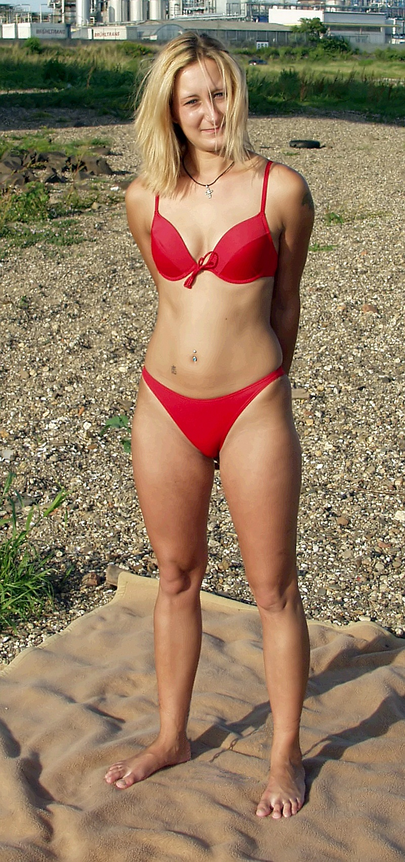 Woman wearing a bikini