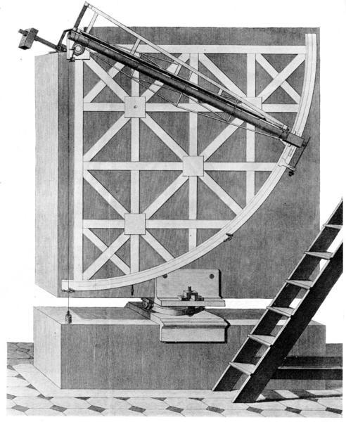 Mural instrument for Tycho brahe mural quadrant