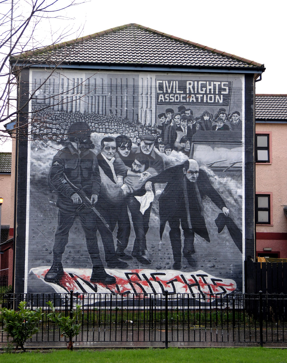 Civil rights movement for Bloody wall mural
