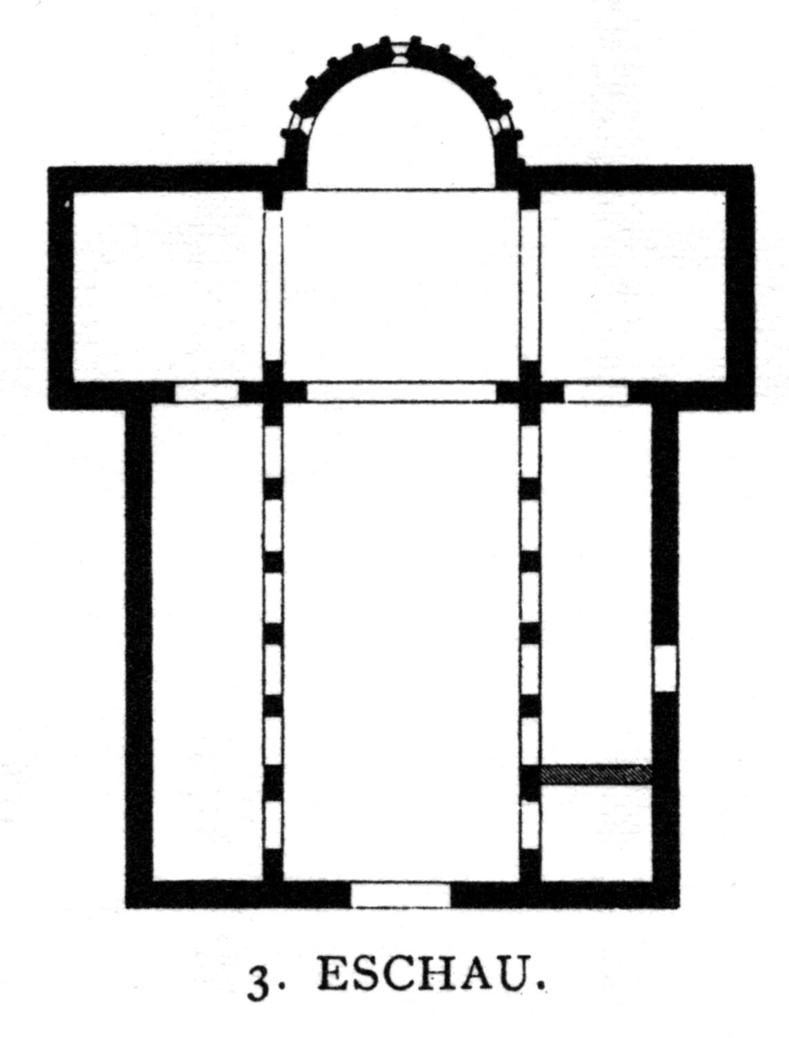 Cruciform Floor Plan In Romanesque Architecture Church