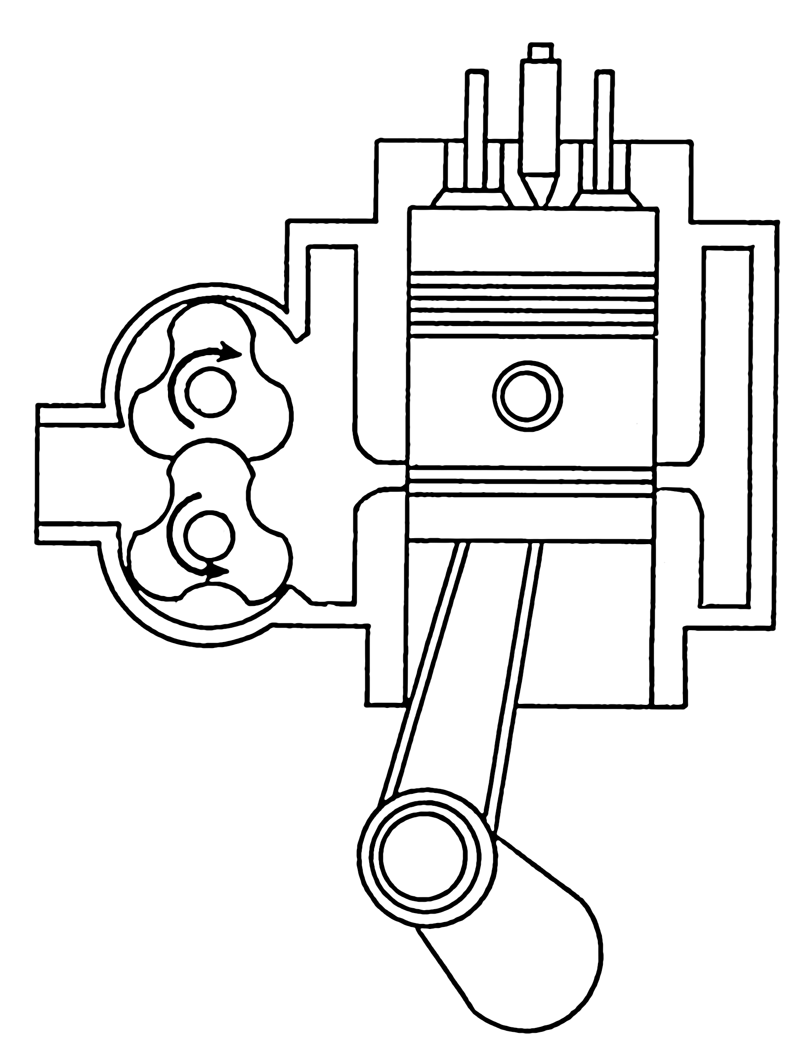 Six Stroke Diesel Engine In This moreover Cycle Of A 4 Stroke Engine  pression moreover Engines Heat Pumps as well 4 Stroke Basic Motorcycle Wiring Diagram moreover Otto Cycle Strokes Thermodynamic Processes P V And T S Diagram And Efficiency. on otto cycle engine diagram