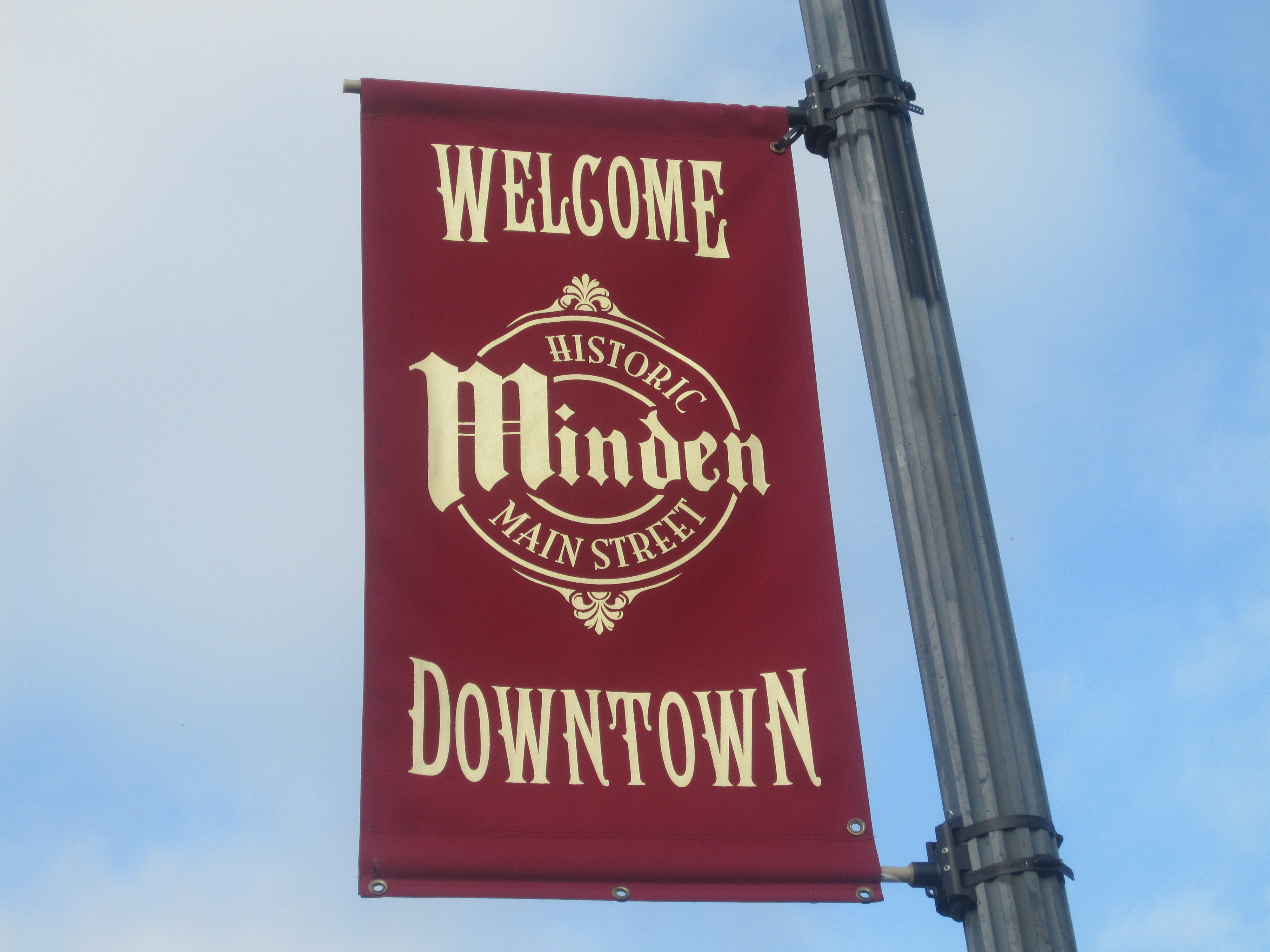Minden (LA) United States  City pictures : Downtown Minden welcome sign on Main Street