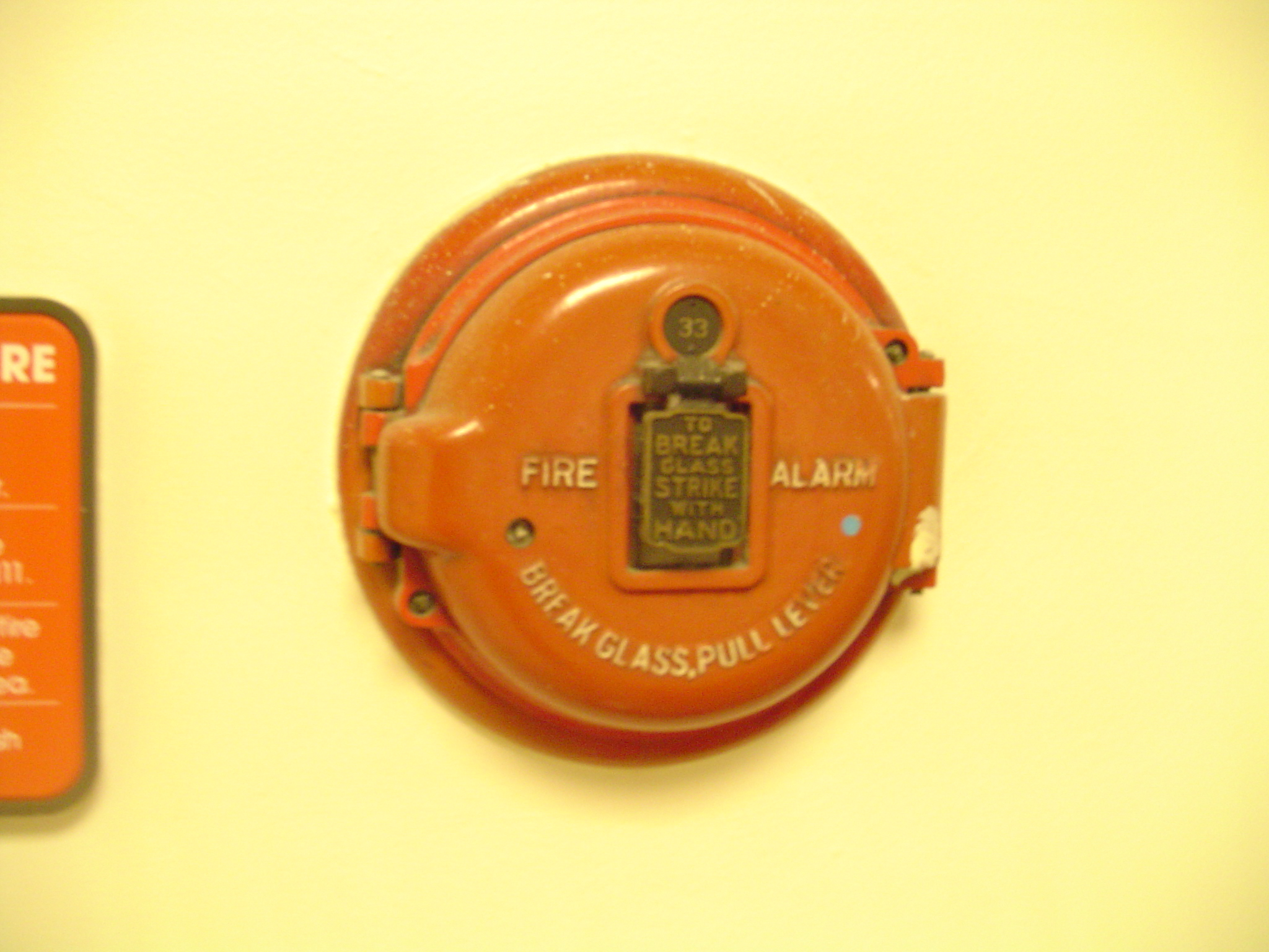 Manual fire alarm activation