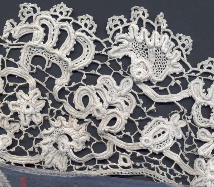 Crocheting Facts : Irish crochet lace, late 19th century. The design of this example is ...