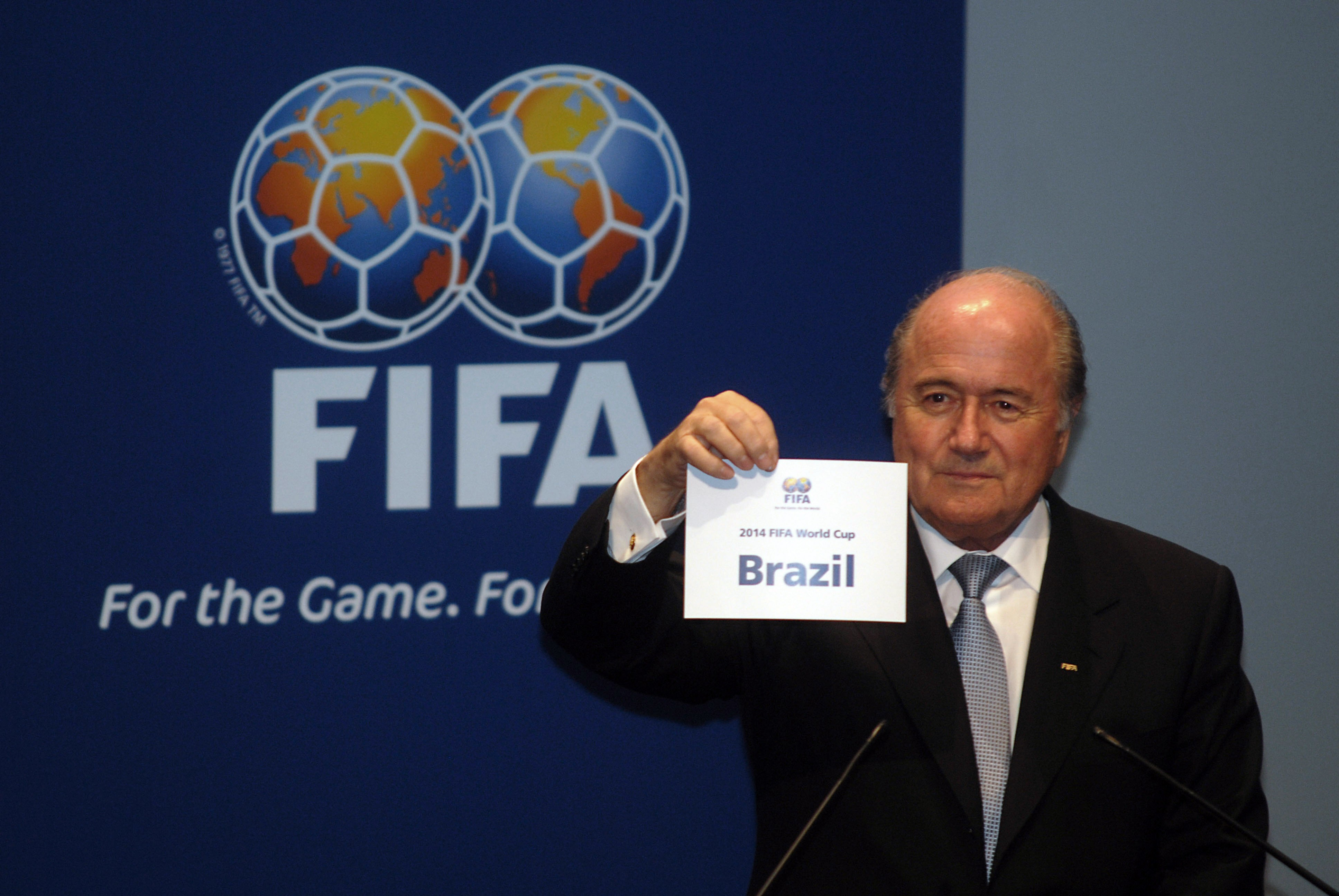 Sepp Blatter and the Brazilian victory.
