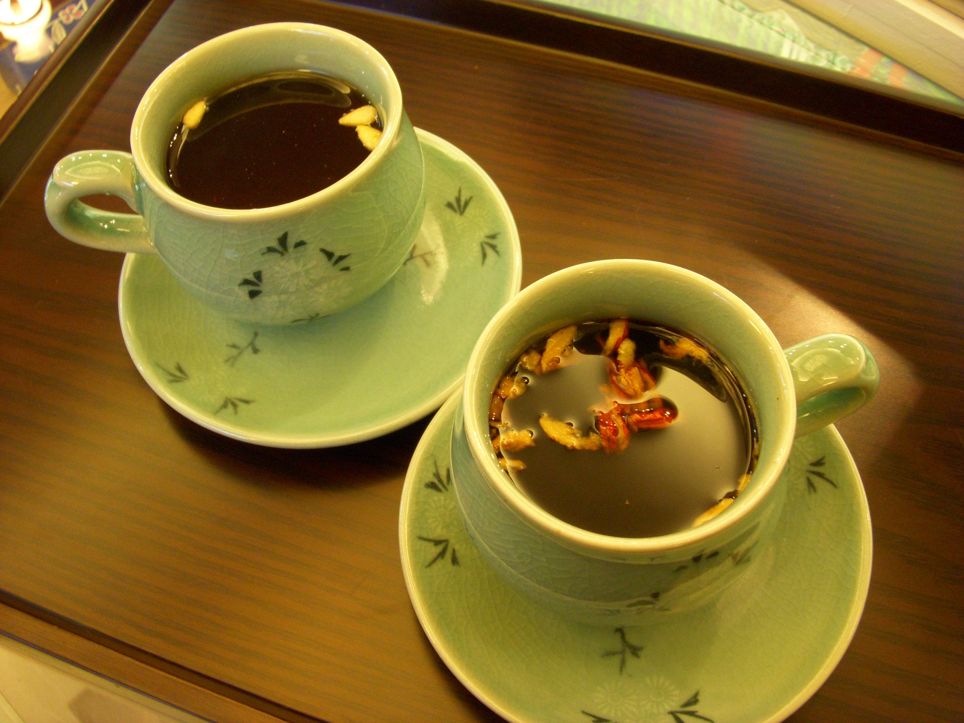 File saenggang cha korean tea jpg wikimedia commons - Nonalcoholic Beverages Main Article Korean Tea