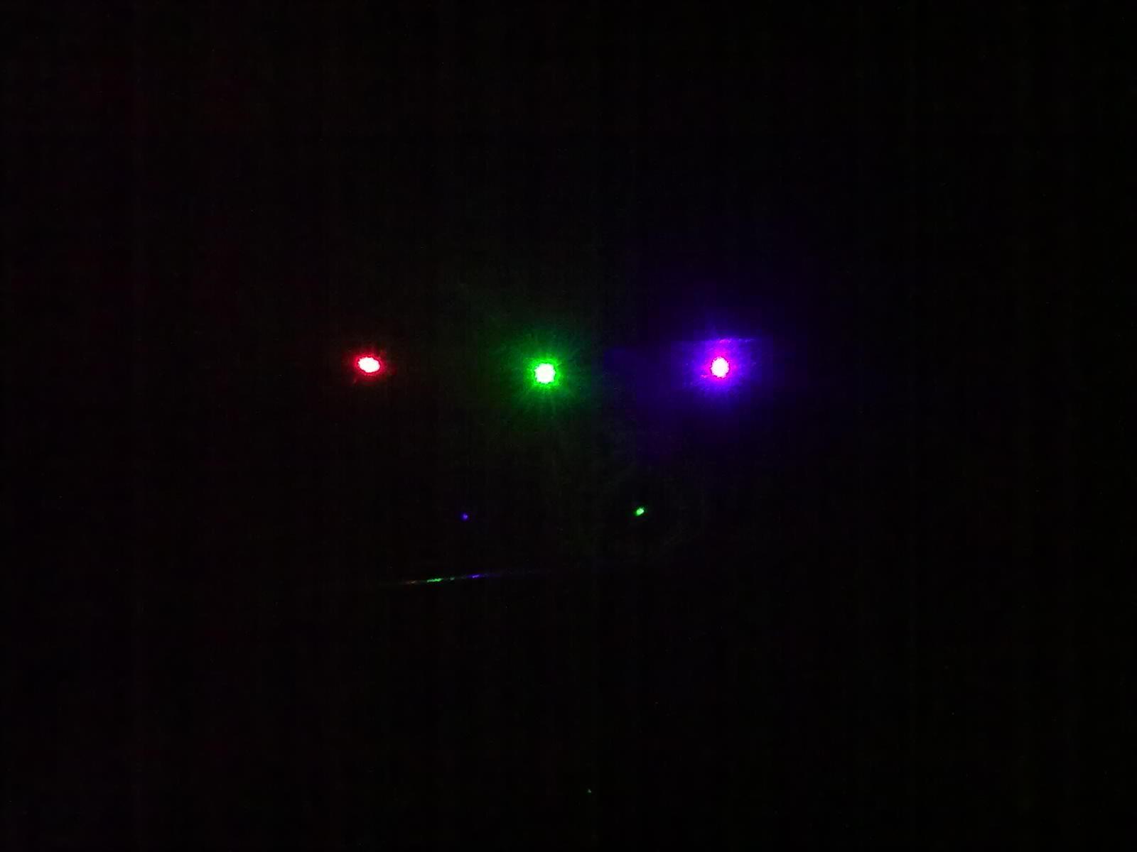 Laser spots (65... Yttrium Laser