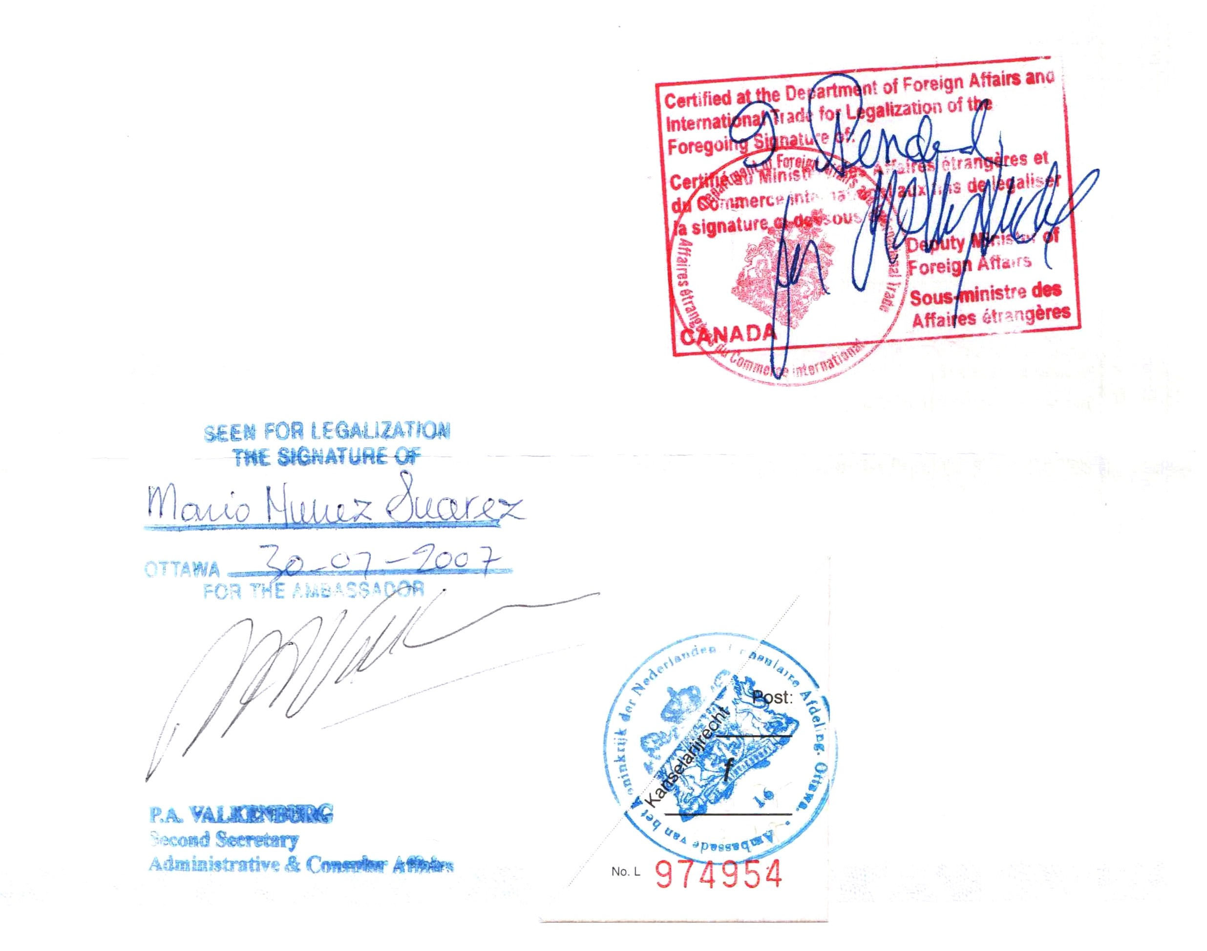 Apostille convention for Consul external service