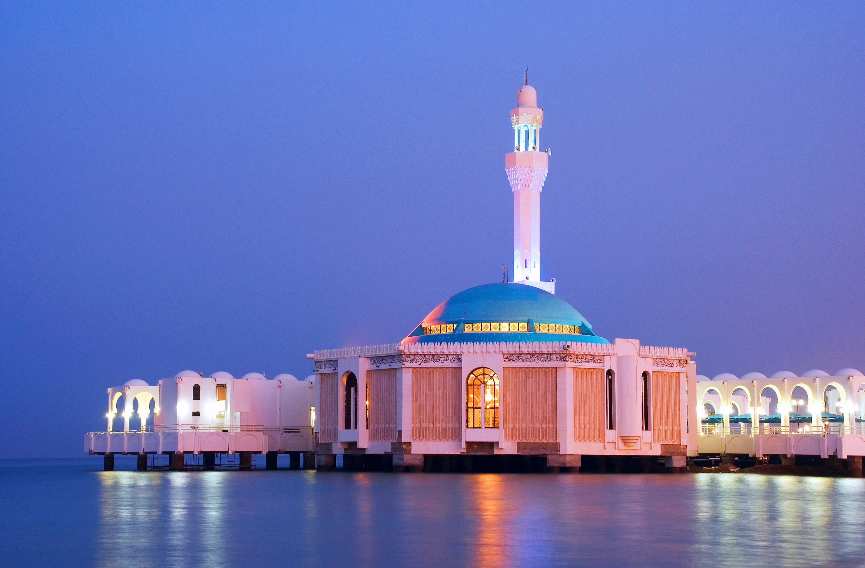 modern-style mosque built on water in Jeddah , Saudi Arabia . Images ...