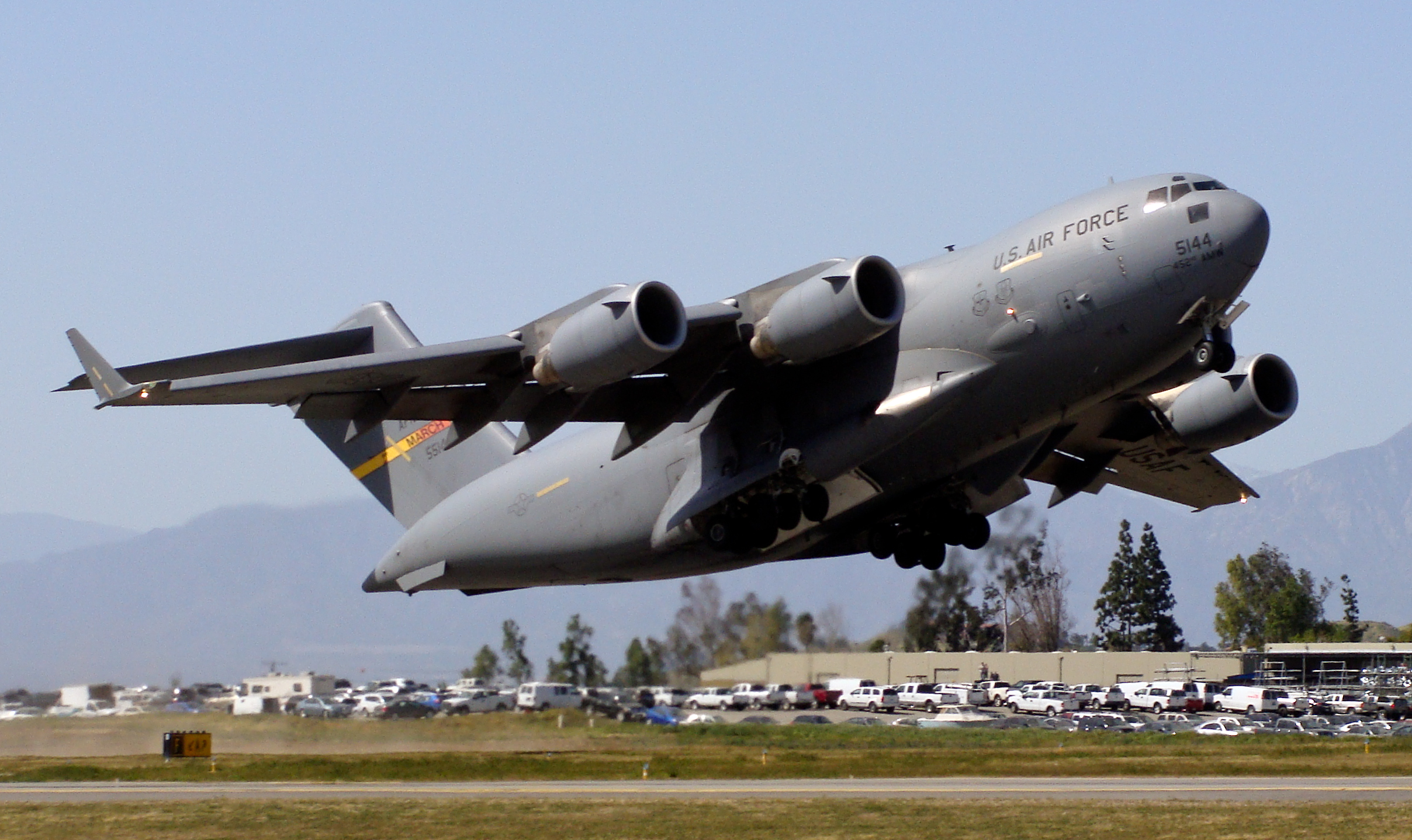 833rd aero squadron - A C 17 Globemaster Iii From The 452d Air Mobility Wing At Near By Riverside Municipal Airport