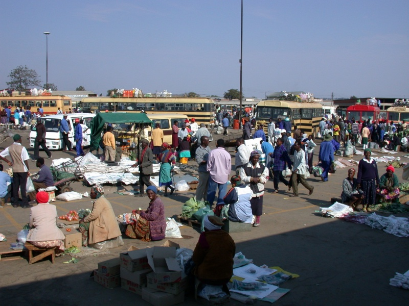 Busy bus terminus in Masvingo, capital of Masvingo Province