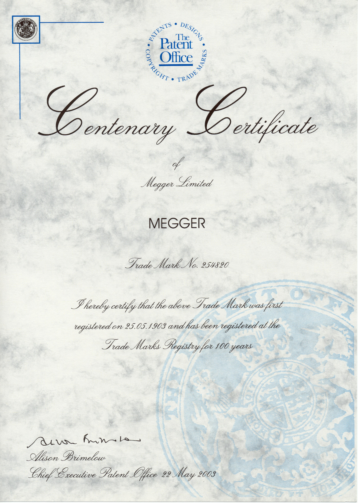 Megger Group Limited : Megger group limited