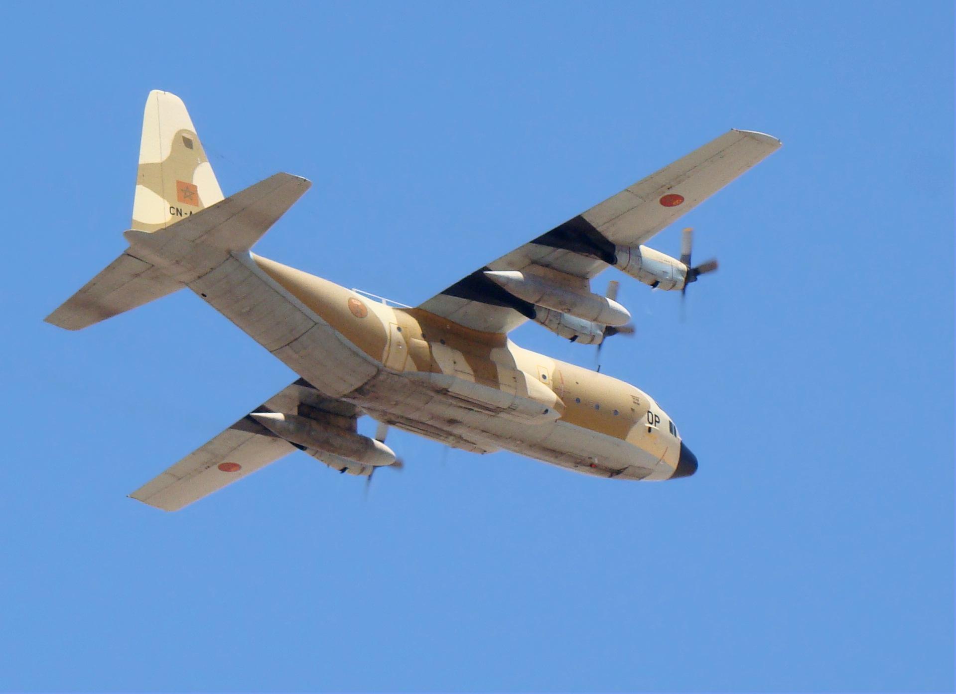 طائرات النقل العاملة بالقوات المسلحة المغربية Moroccan_Hercules_C130_2011