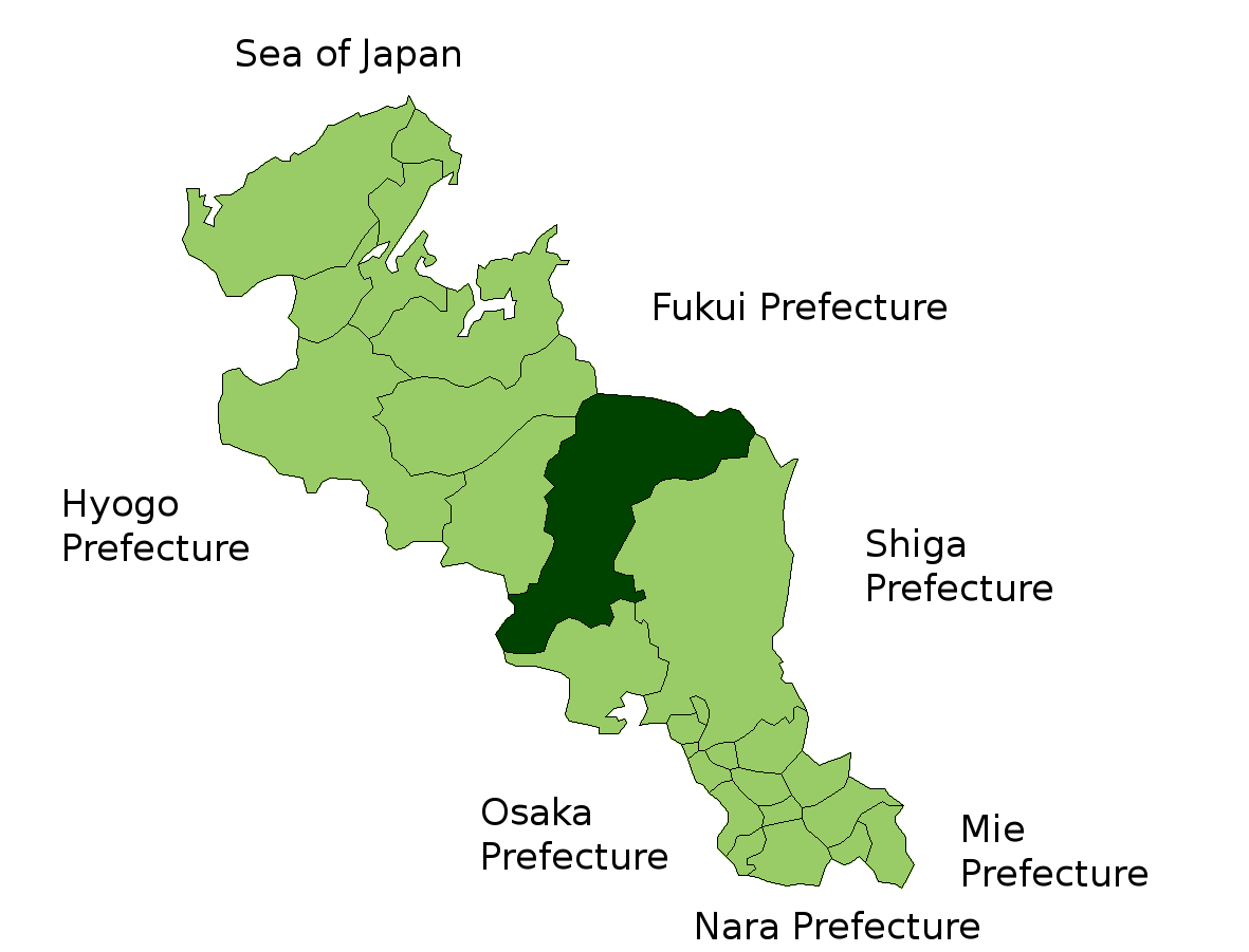 Nantan Japan  city images : Location of Nantan in Kyoto Prefecture