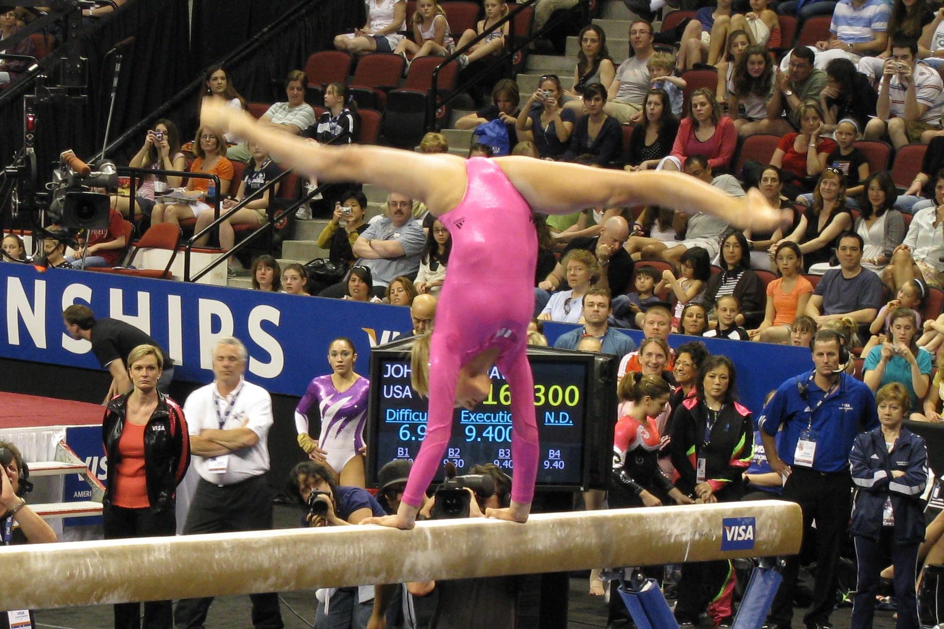 Nastia Liukin on the balance beam.