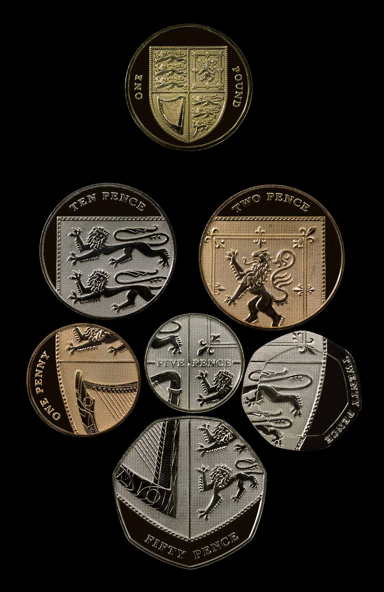 Coins of the pound sterling for The sterling