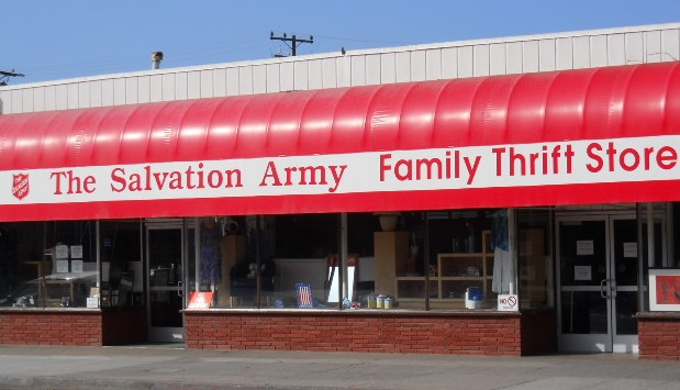 Salvation army clothing store