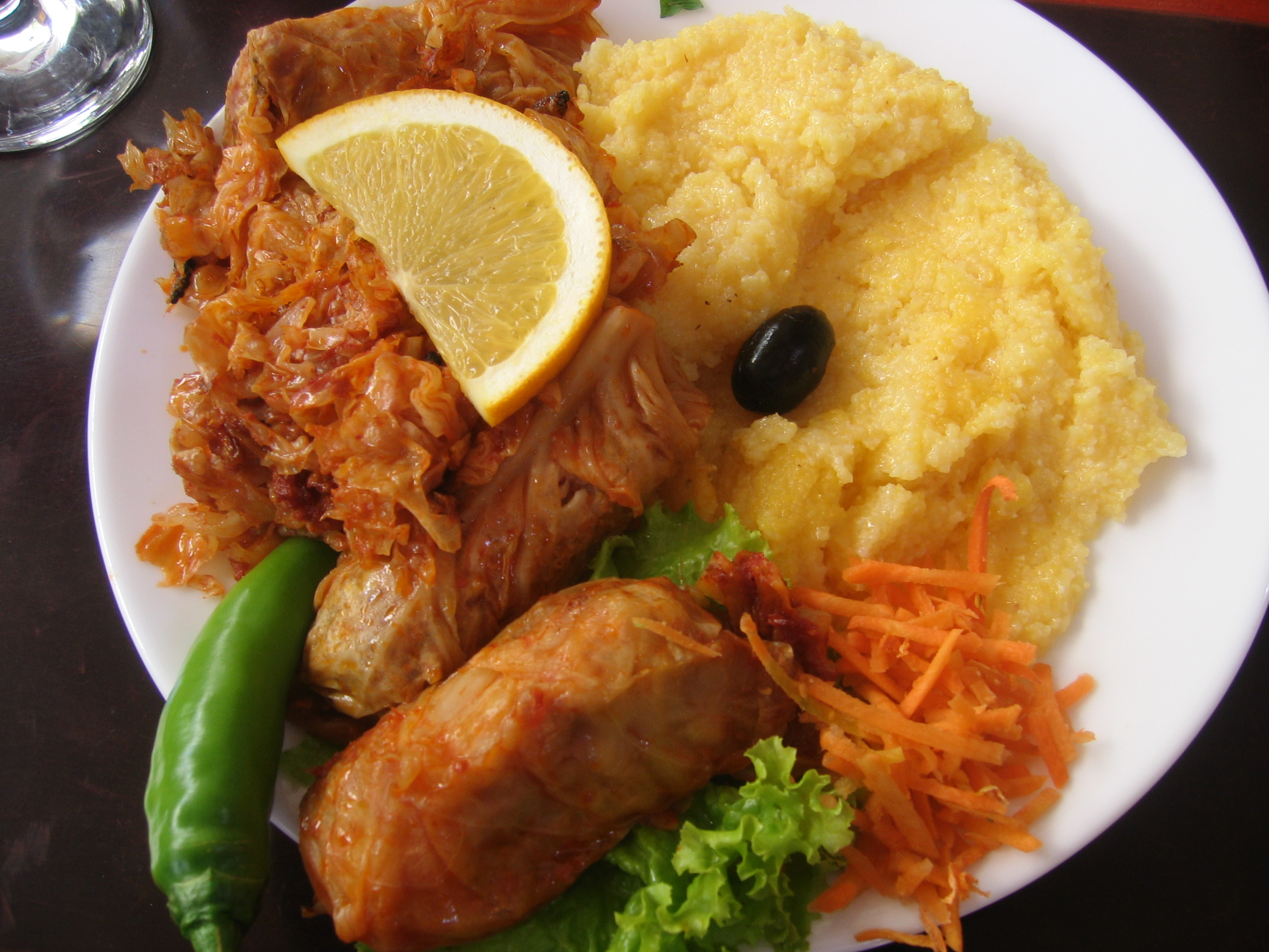 popular Romanian dish of stuffed cabbage rolls (sarmale ...