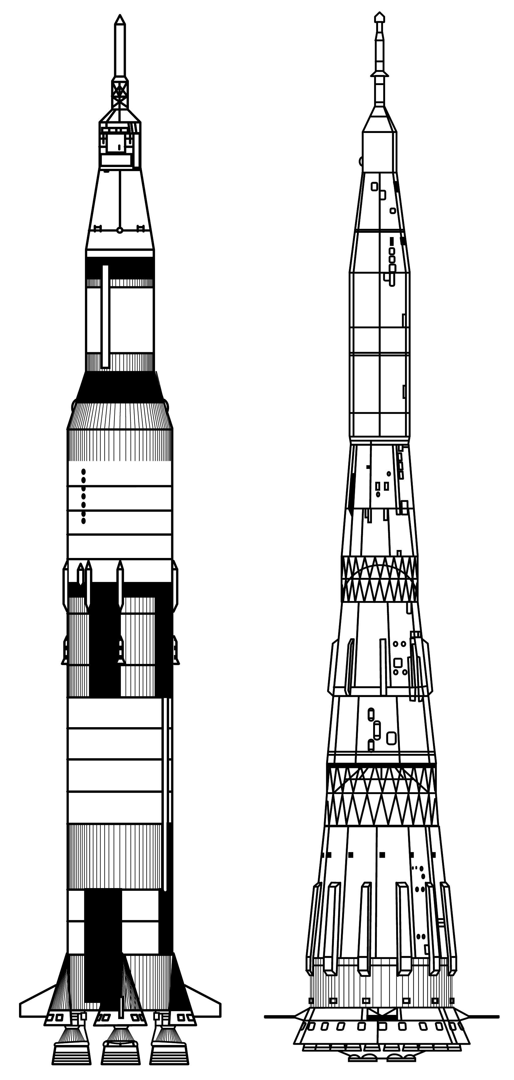 Apollo Rocket Drawing The Apollo Moon Rocket is
