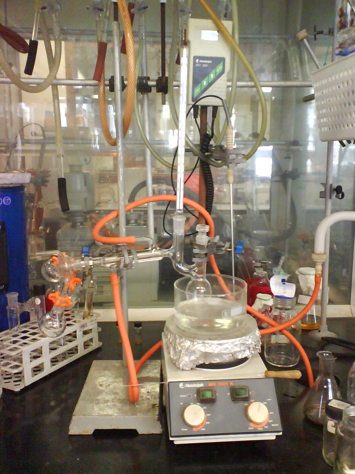 distillation post lab This can be accomplished by placing the thermometer in an ice bath of distilled  water after the thermometer has been allowed to reach thermal equilibrium,.