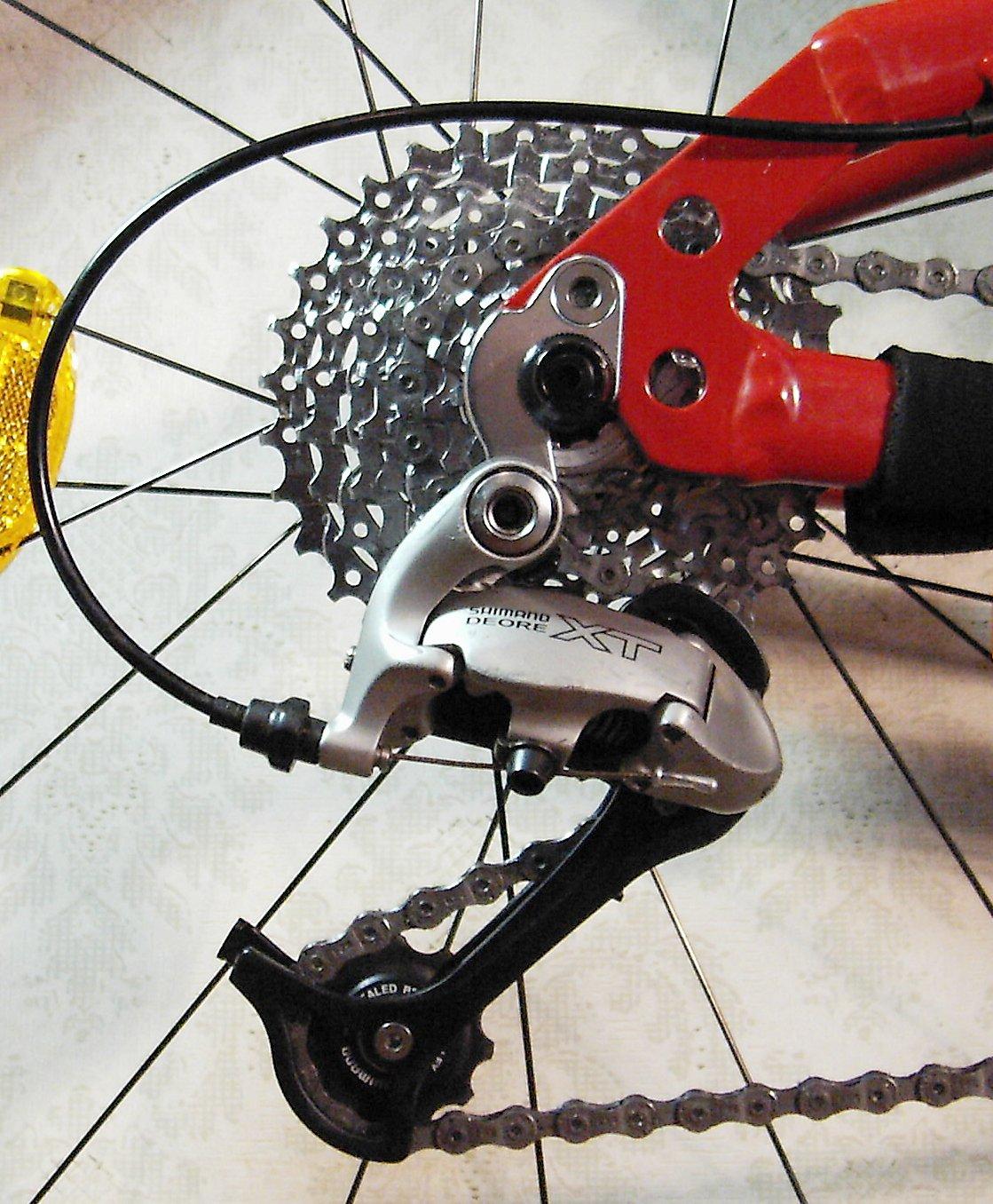 10 Speed Bike Gear Diagram : Shimano xt rear derailleur on a mountain bike images frompo
