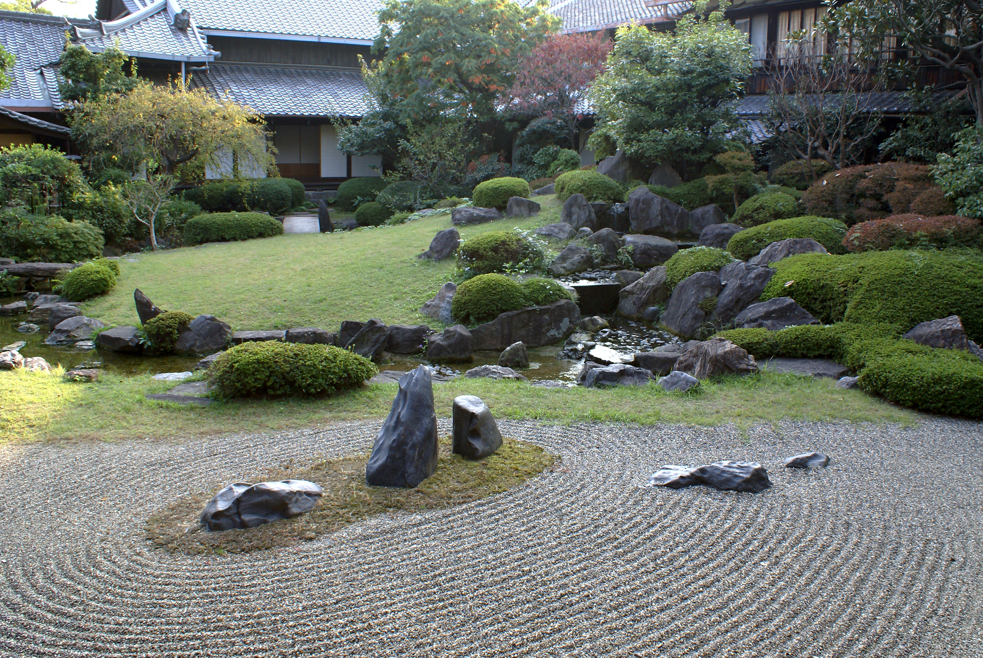 Japanese rock garden for Jardin zen japonais