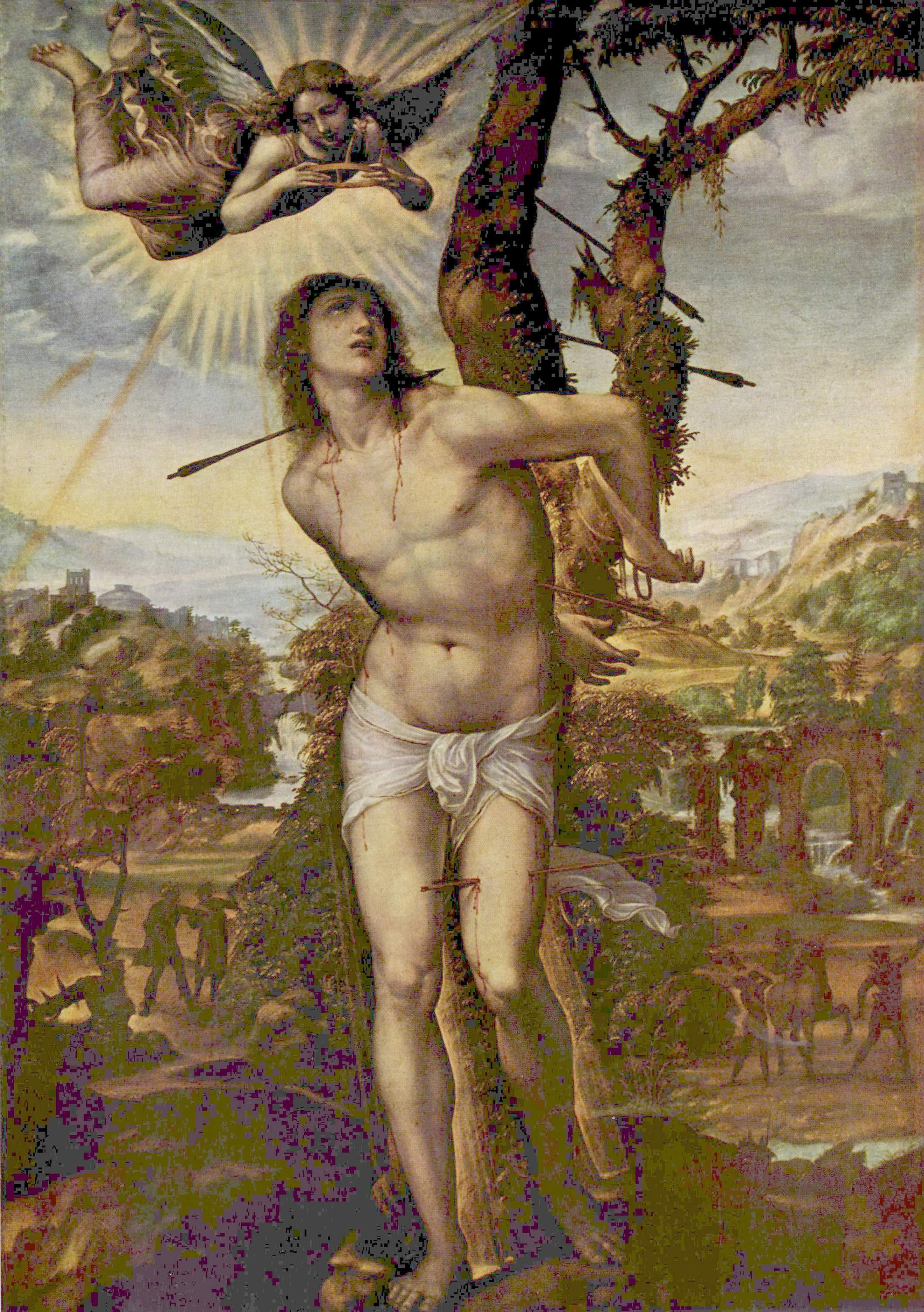 painting by il sodoma c 1525 depicting st sebastian and the