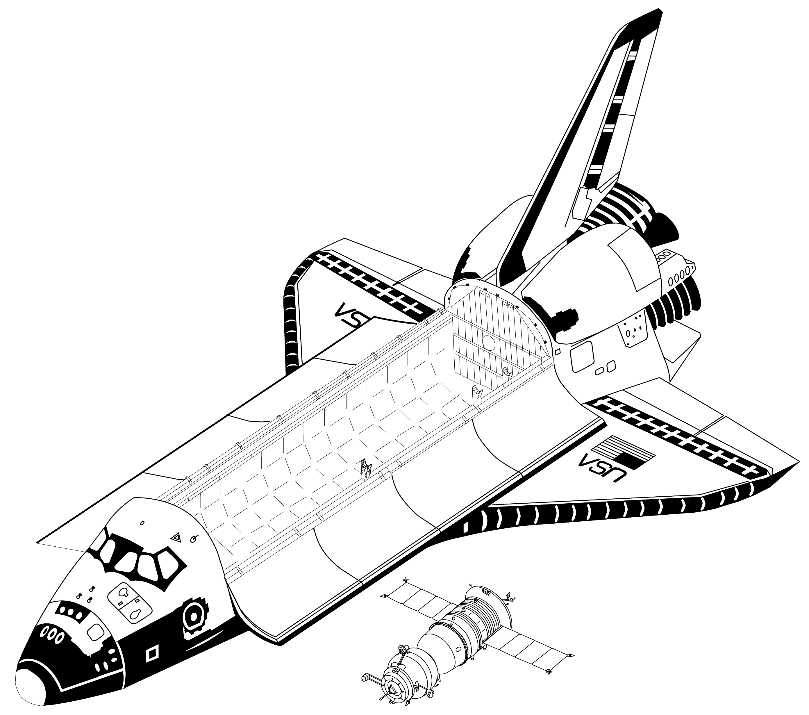 coloring for kids space shuttle pages new on decoration