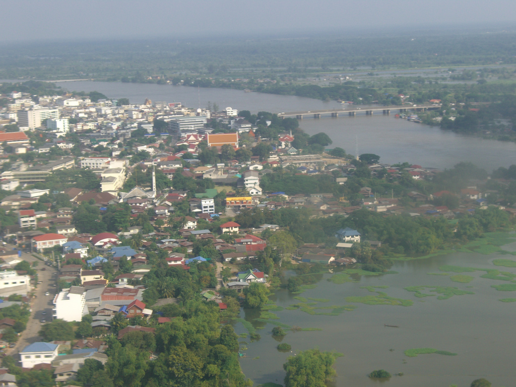 Image caption ubon ratchathani view with mun river