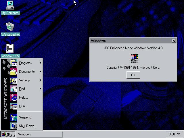 Windows 95 for Windows 95 iso