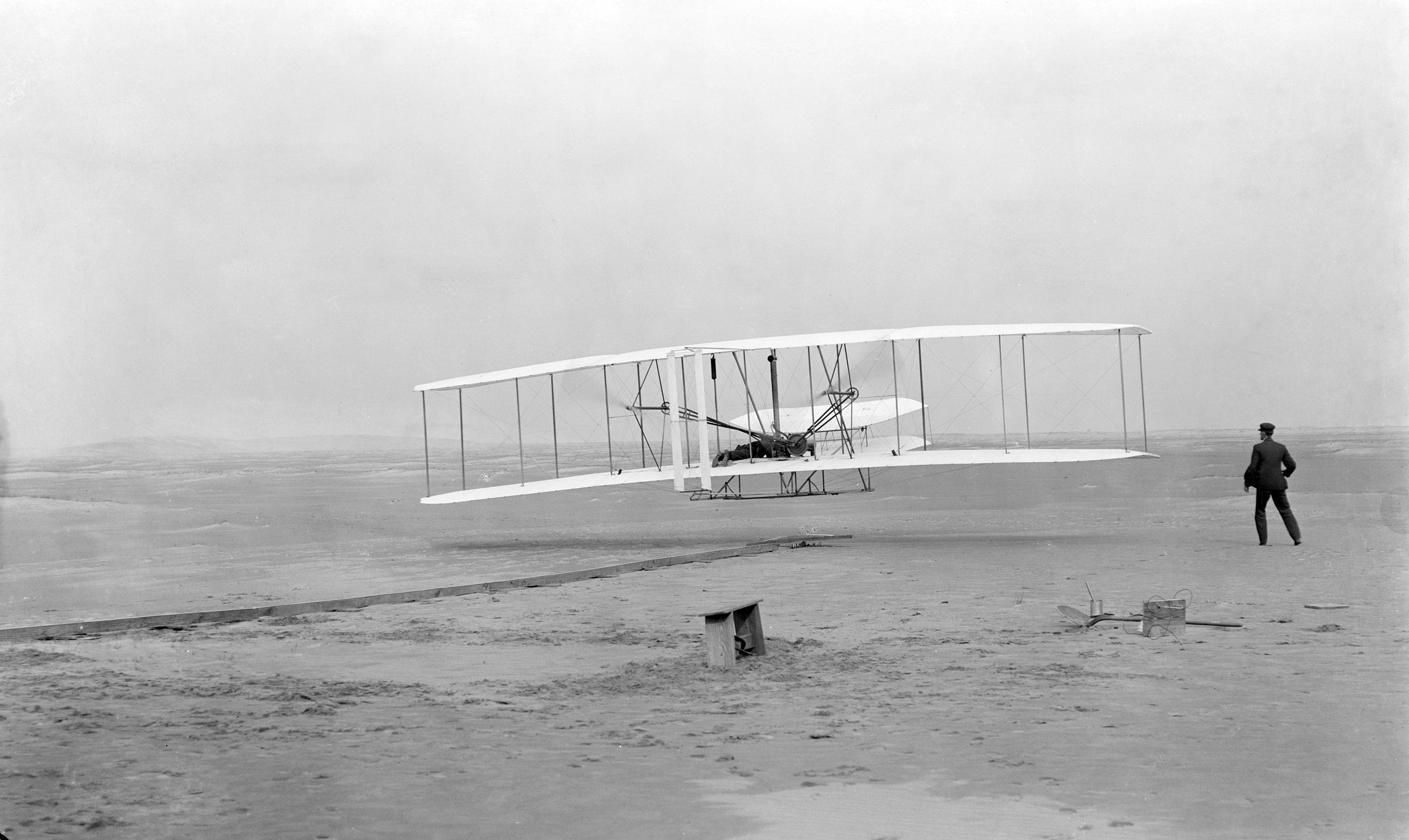 莱特兄弟的飞机图片